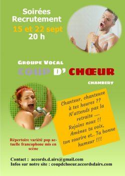 Coup d' Choeur recrute !